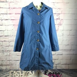 LANDS' END Blue Light Weight Trench Coat